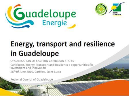 """Intervention de la Région Guadeloupe sur le thème """"Energie, transports et résilience"""""""